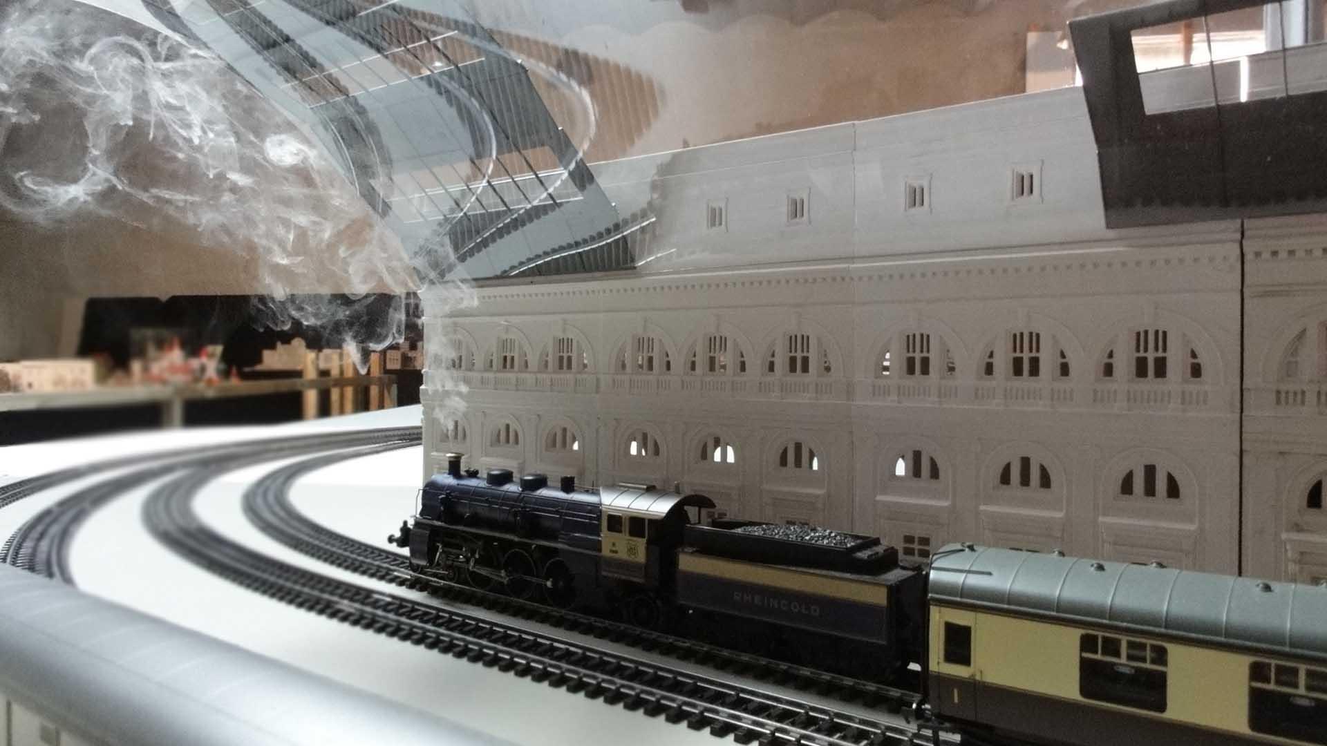 Barcelona en miniatura - Locomotora Vapor