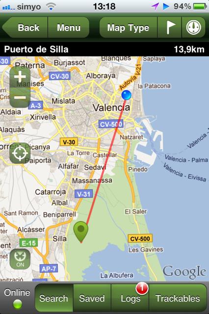 Geocaching Mapa